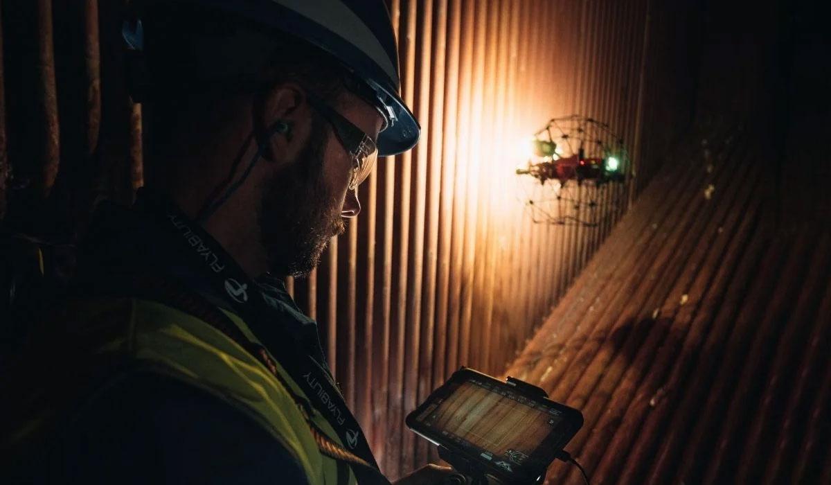 Indoor Drone Inspection in Power & Utilities - Dronize